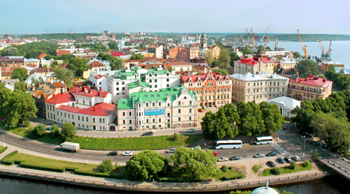 View of a Vyborg, Russia